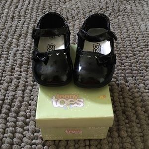 Baby Girl Black Patent Mary Jane Shoes